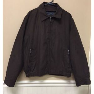 Jos A Bank Micro Bomber Jacket Brown